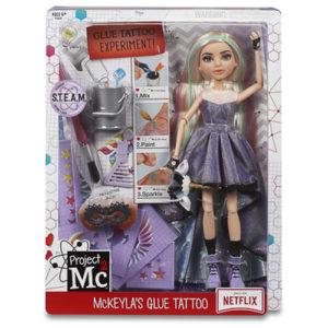 Project Mc2 – Experiments with Doll-McKeyla's Glue Tattoo