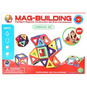 28pcs. Mag-Building Carnival Set