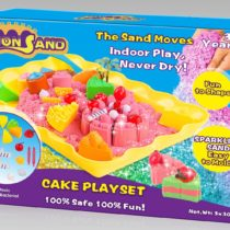 Cake Playset (3x300g sand   20 parts   1 plastic tray)