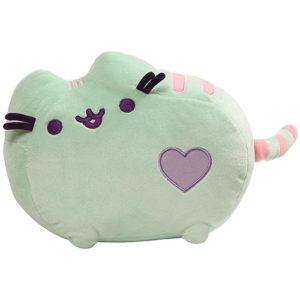 Gund – Pusheen Pastel Heart Cat Plush, Mint 12-inches