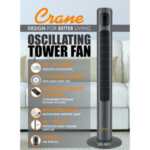 Crane – Oscillating Tower Fan, 46-inches