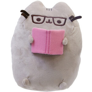 Gund – Pusheen – Reading a Book & Glasses Plush Toy