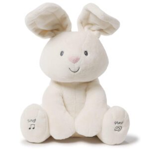 Gund – Baby Flora The Bunny Animated Plush Stuffed Animal Toy, Cream, 12″