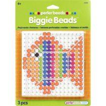 Perler Beads Biggie Beads 2 Clear Pegboards