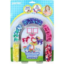 Perler Beads Fused Bead Kit Rainbow Pony Frame