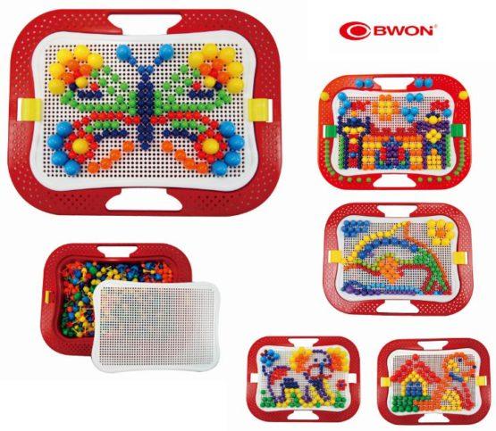 Creative Mosaic Pegboard Mushroom Nails Jigsaw Puzzle with Storage (Creative Puzzle Toys)