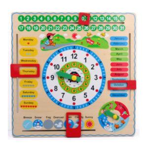 Young Mindz Big Daily Calendar and Clock