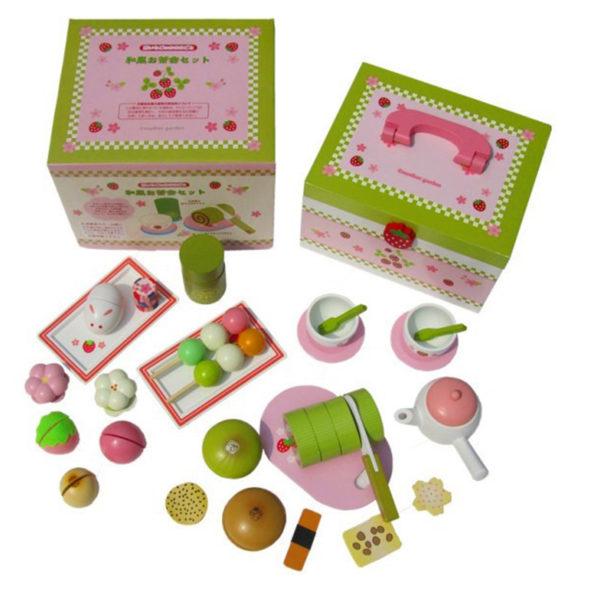 Mother Garden Japanese Green Tea and Cake Set