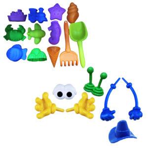 Creative Parts (7 pcs. moulds) & Beach Moulds (12 pcs. moulds)(2 Colors: A or B)