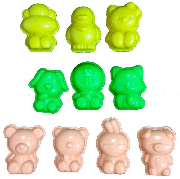 3D Cartoon Animals Moulds