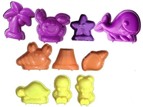 3D Beach Animals Moulds