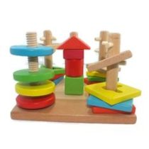Wooden Rotate-To-Match Blocks