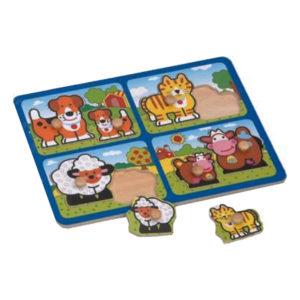 Young Mindz Mother & Baby Farm Peg Puzzle