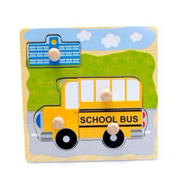 Young Mindz School Bus Knob Puzzle