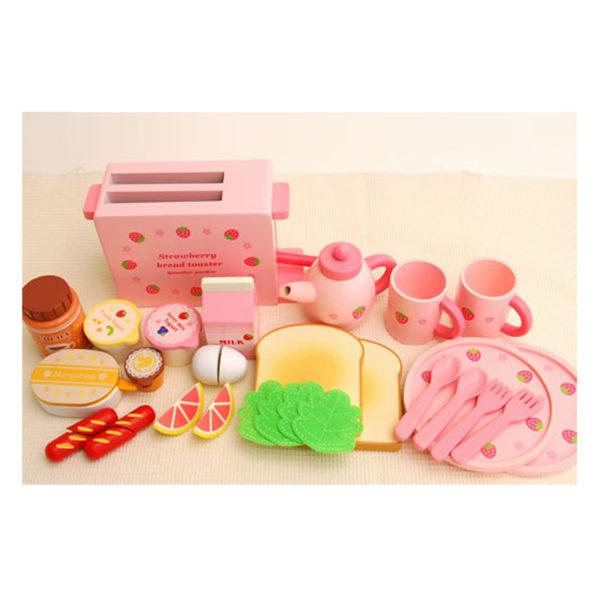 Mother Garden Strawberry Bread Toaster Set
