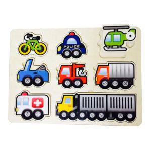 Young Mindz Wooden Transportation Puzzle