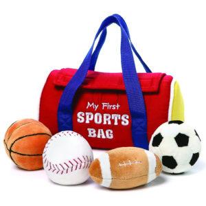 Gund – My 1st Sportsbag Stuffed Baby Playset – Sensory Discovery