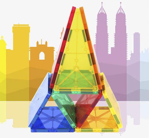 Young Mindz – 32 pcs. MAGIC TILES 3D Puzzle Magnetic Building