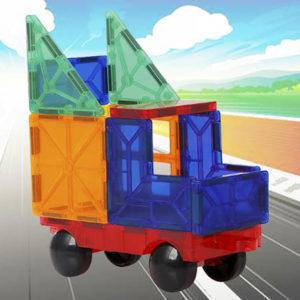 Young Mindz – 60 pcs. MAGIC TILES 3D Puzzle Magnetic Building