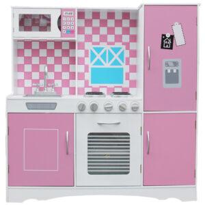 Young Mindz – Wooden Pink Play Kitchen Set