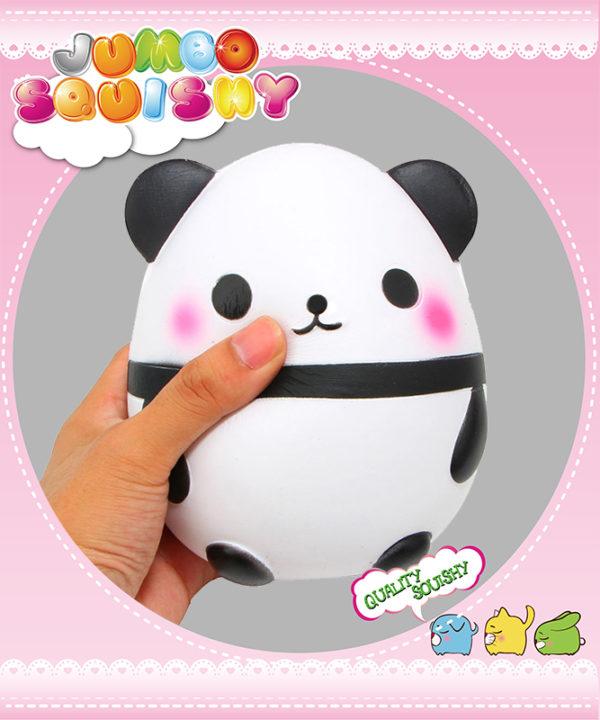 SanQi Elan SQ6061 Super Slow Rise Jumbo Panda Doll Egg Scented Squishy