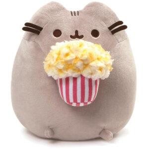 Gund – Snackables Popcorn Cat Plush Stuffed Animal, Gray, 9.5″