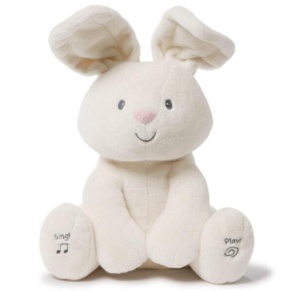 Gund – Baby Flora The Bunny Animated Plush Stuffed Animal Toy, Cream, 12″