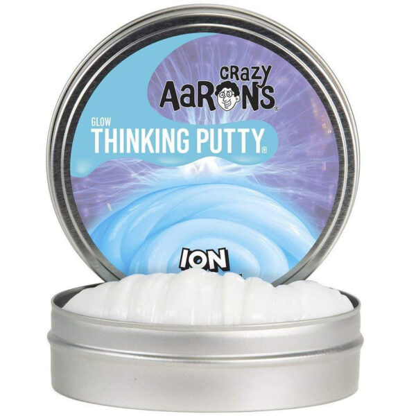 Crazy Aaron Thinking Putty – Glow In The Dark Ion 2″ Tin Slime