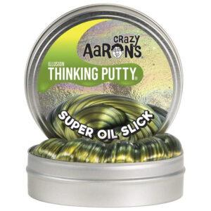 Crazy Aaron Thinking Putty – Super Oil Slick Illusion 2″ Tin Slime