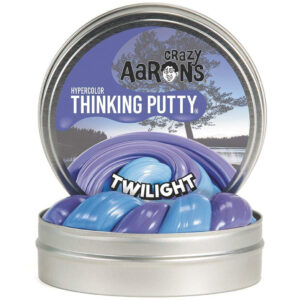 Crazy Aaron Thinking Putty – Hypercolor Twilight 2″ Tin Slime