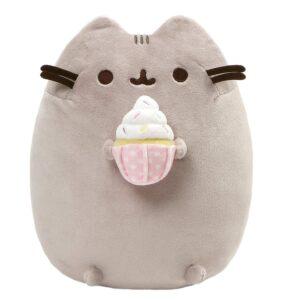 Gund – Snackables Sprinkled Cupcake Cat Plush Stuffed Animal, Gray, 9.5″