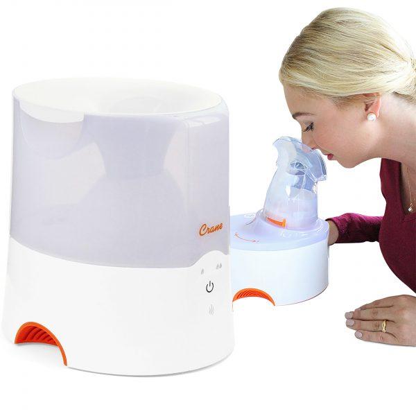 2-in-1 Warm Mist Humidifier & Personal Steam Inhaler – WHITE