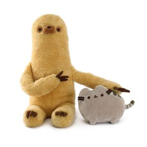 Gund 4061309 Pusheen with Sloth Plush Stuffed Animal, Set of 2,13