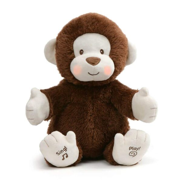 Gund 6052184 Animated Clappy Monkey Singing and clapping plush Stuffed Animal 12