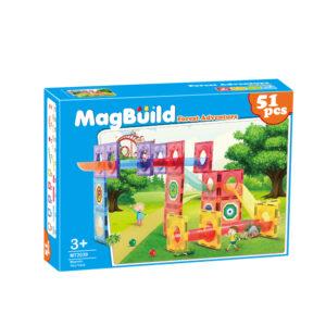 Young Mindz MT2039 51 pcs Magnetic Building Tiles Forest Adventure