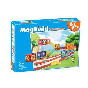 Young Mindz MT2040 61 pcs. Magnetic Building Tiles Roller Coaster